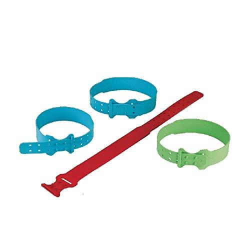 INSPROVET 10 Collares de plástico Cierre para Ovejas. 61 x 3,5 cm (Azul)