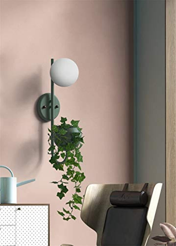 Wandleuchten für den Innenbereich Nordic Macaron Farbe Plant Glass Ball Wandleuchte - Grün