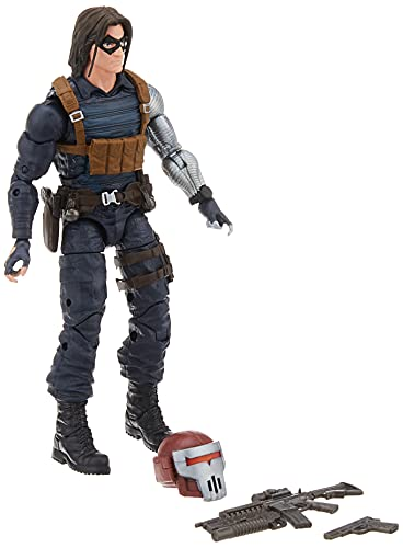Hasbro Marvel Legends Series - Winter Soldier (Action Figure 15cm da Collezione, Build-A-Figure Crimson Dynamo, Ispirata al Film Black Widow)