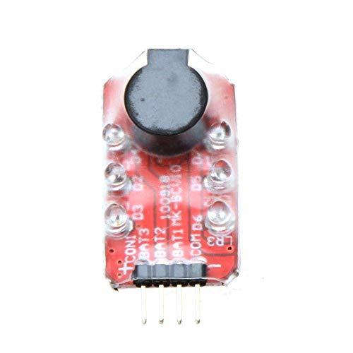 WANGYOUCAO Comprobador de indicador de Alarma de Voltaje de batería Loudhailer Lipo 2-4S Pantalla LED para helicóptero RC Quadcopter Batería de Coche
