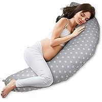 Almohada Embarazo cojin lactancia embarazada - almohadas Premama, Cojín maternal para Embarazadas dormir, cojines grande y Reductor Cuna bebe Gris