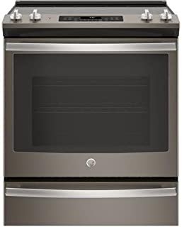 GE Slate Series 30 Inch Slide-in Electric Range with Smoothtop Cooktop, 5.3 cu. ft. Primary Oven Capacity, in Slate