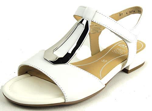 ARA Damen Leder-Sandalette Weiß Glattleder 41