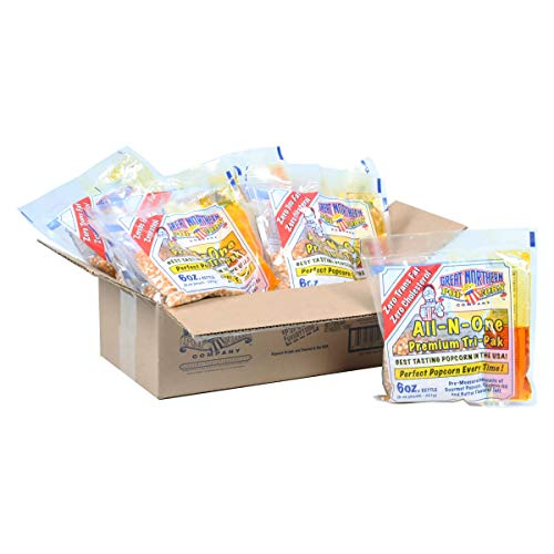 Read About MISC Popcorn 1 Case (12) of 6oz Portion Packs Kit Cinema