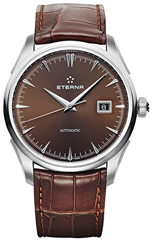 Eterna Legacy Herren Uhr analog Automatik mit Leder Armband 2951.41.50.1323