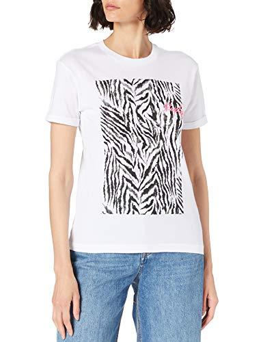 REPLAY W3506E Camiseta, 001 Optical White, L para Mujer