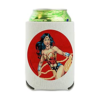 Wonder Woman Character Can Cooler - Drink Sleeve Hugger Collapsible Insulator - Beverage Insulated Holder