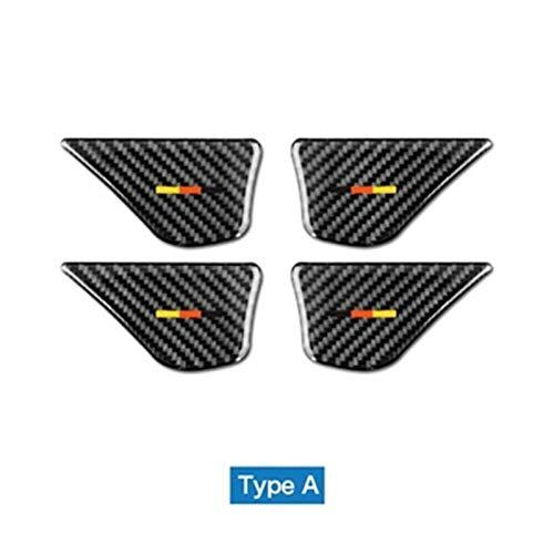 Decoración Ajuste para Mercedes Benz W205 C Clase C180 C200 C300 GLC Accesorios GLC Fibra de carbono Interior del automóvil Cubierta de la manija de la puerta Pegatinas de ajuste Accesorios
