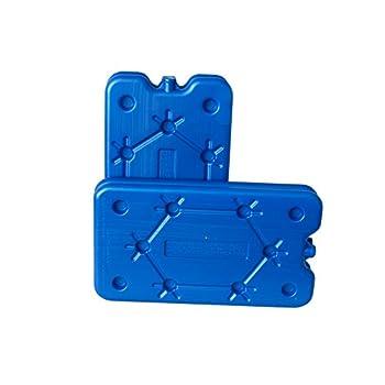 ToCi Lot de 4 blocs réfrigérants de 400 ml chacun | 4 éléments réfrigérants bleus pour le sac isotherme ou la glacière | Extra plat