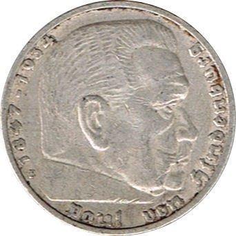 5 Reichsmark Deutschland, 1936 E,