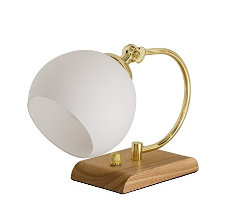 Bloomingville Lampe de bureau, Naturel/Blanc/Or/Corde en tissu blanc