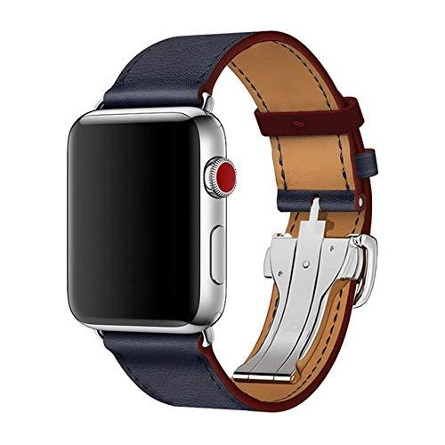 LILIANG For Apple Seguir Seires 4 5 40-44mm Reloj Pulsera Correa de Cuero Genuina for Apple Venda de Reloj de la Serie 1 2 3 Correas de Reloj iWatch Partido de la Moda