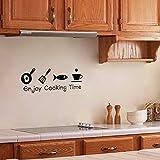 MMLXHH Pegatinas de Pared Disfrutar el Tiempo de cocción Cocina Etiqueta de la Pared PVC Sala de Estar Cocina Fondo decoración del hogar Arte Mural calcomanías Pegatinas