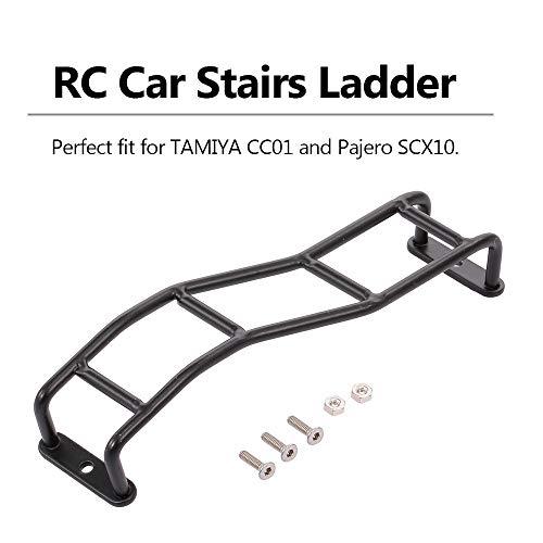 Goolsky RC Car Treppenleiter Mini Metal Simulation 4-Level Leiter Dekorieren für Tamiya CC01 Pajero SCX10