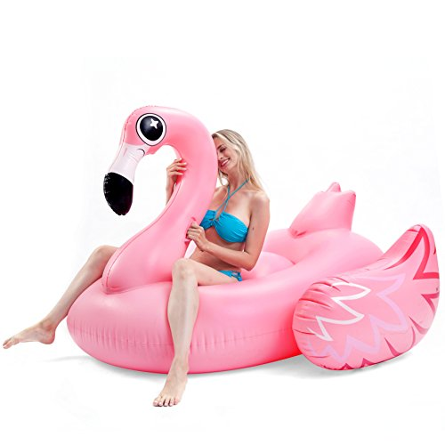 JOYIN Giant Inflatable Luxurious Flamingo Pool Float