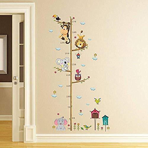 Messlatte Kinderwandtattoo Wand- und Stecktattoo Kindertiere 1Wandaufkleber Wand-Aufkleber Fototapete Wandtattoo Wanddekoration