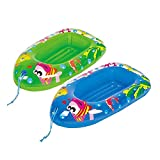Ozmo Child Kids Inflatable Pool Dingy Boat Toy Blow Up Float Sea Beach Lounger(Colour sent at Random) Approx...