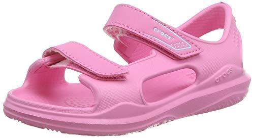 crocs Unisex-Kinder Swiftwater Expedition K Knöchelriemchen Sandalen, Pink Pink Limonade Pink Limonade 6m3, 4 UK