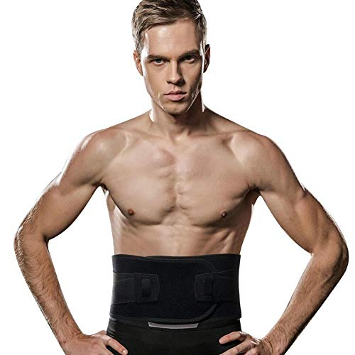 CHENXIAOJUN Rückenstabilisator Taille Trainer Taillen-Trimmer Taille Handgelenk Männlich Weiblich Rückenstützgurt Sport-Gymnastik Gewichtheben rückenbandage (Color : Black, Size : L)