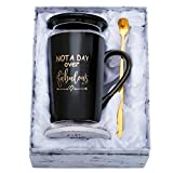 Birthday Gifts for Women - Funny Birthday Gift Ideas for Her, Friends, Coworkers, Her, Wife, Mom, Daughter, Sister, Aunt Ceramic Marble Mug 14 Oz (Black)