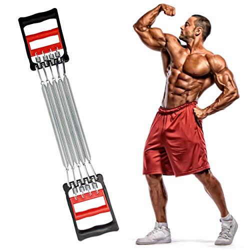 INHEMING Expansor del Pecho Ejercitador de Músculo Ajustable, 5 Muelles Ejercitador
