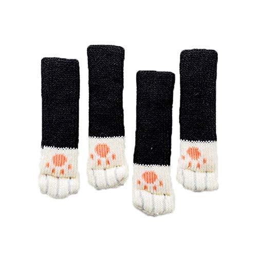 prom-note Socken Stuhlsocken 4 STÜCKE Katzenpfote Elastische Stuhlbeinschutz rutschfeste Stuhlbeinfüße Socken Abdeckungen Möbelkappen Set