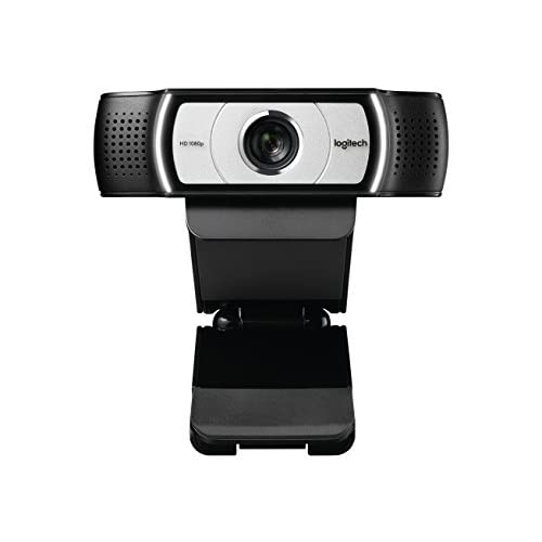 Logitech C930E Business Webcam HD, Videochiamata Full HD 1080p, Progettata Per Aziende, Campo ‎Visivo 90°, USB, Zoom Digitale, Funziona con Skype, Zoom, Cisco, PC/Mac/Laptop/Macbook/Tablet , Nero