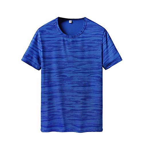 Beonzale Mens Sommer Casual Drucken T-Shirt Fitness Sport Schnell Trocknend Atmungsaktiv Top Bluse Kurzarm