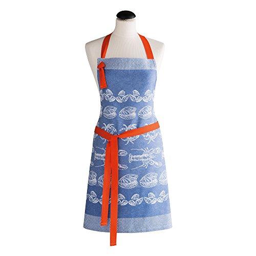 Coucke Tablier à la Pêche Coton Bleu 70 x 82 x 0,3 cm