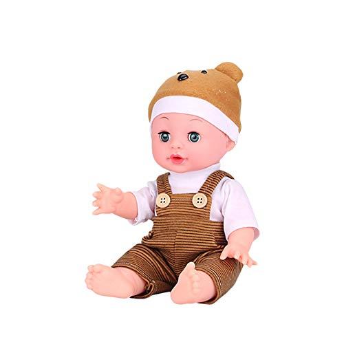 Royoo Babypuppe, Funktionspuppe, Körperpuppe Lebensecht -Infant Beruhigende Puppe Interaktives Sprechendes Spielzeug,Weichkörperpuppe-ab 18 Monaten
