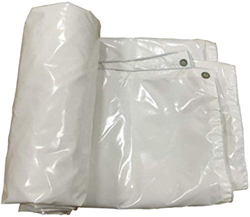 WYJW PVC regendicht dekzeil, dubbelzijdig waterdicht zonnescherm, multifunctioneel gebruik, een verscheidenheid aan maten kan kiezen -0.4mm-450g/m2 (kleur : Groen, Maat : 5 * 7m) 3 * 3m Kleur: wit