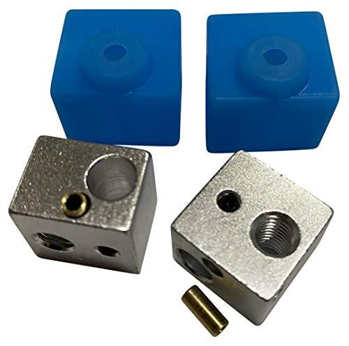 3DPLady | Anycubic I3 Mega HeatblocK (bloque de calefacción) V5 + calcetines de silicona, juego de 2