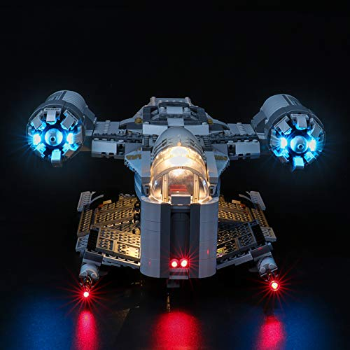 BRIKSMAX Led Lighting Kit for The Razor Crest - Compatible with Lego 75292 Building Blocks Model- Not Include The Lego Set