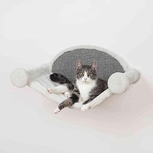 Trixie 49920 - Amaca da Parete, 54 x 28 x 33 cm, Colore: Bianco/Grigio