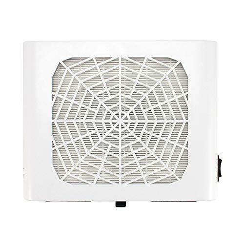 Aspirateur Manucure Aspirateur de bureau filtre à poussière machine à ongles blanc simple machine d'aspiration de ventilateur blanc approprié à l'utilisation de maison de salon de clou 110v / 220v