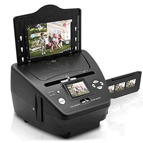 QCHEA Digital 3-in-1 Scanner Fotografico, Slide e Scanner for pellicole - Convert Pellicola di 35mm Negativi e Diapositive - con HD 5.1 MP - Schermo Digitale LCD, Facile da Usare