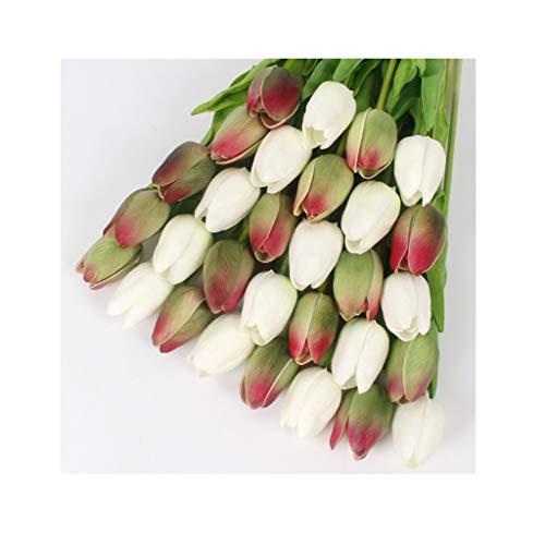 21 stuks/set van PU mini-tulpenbloem van tulpen, echte bruiloftsbloem, kunstbloem, decoratie voor huis, party, hotel