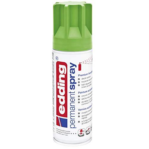 edding 5200 Permanent-Spray - gelb-grün matt - 200 ml - Acryllack zum Lackieren und Dekorieren von Glas, Metall, Holz, Keramik, lackierb. Kunststoff, Leinwand, u. v. m. - Sprühfarbe