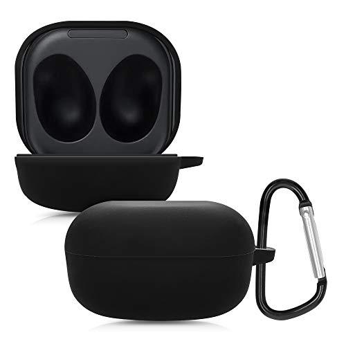 kwmobile Schutzhülle kompatibel mit Samsung Galaxy Buds Live - Hülle Kopfhörer - Silikon Hülle Cover Schwarz