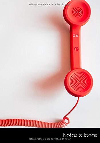 Notas e Ideas: Cuaderno / diario de bala teléfono rojo cable eléctrico...