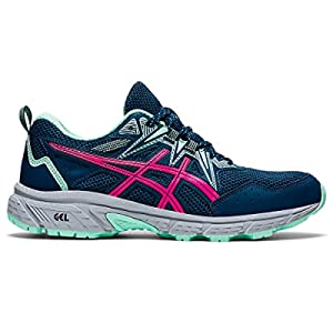 ASICS Women's Gel-Venture 8 Running Shoes, 9, MAKO Blue/Pink GLO