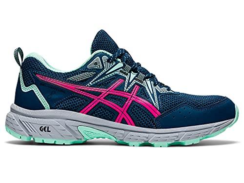 ASICS Women's Gel-Venture 8 Running Shoes, 6, MAKO Blue/Pink GLO
