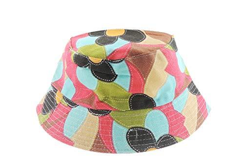 Glamour Girlz Bonnet de soleil en coton pour bébé fille garçon 4-6 ans (forme rouge olive)