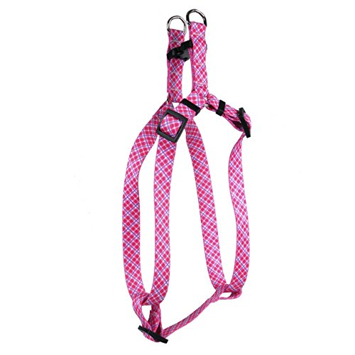 Yellow Dog Design Pink Lila Diagonal Plaid Step-in Hundegeschirr