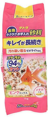 テトラ (Tetra) 金魚 ラクラクお手入れ砂利 ピンクミックス 1kg