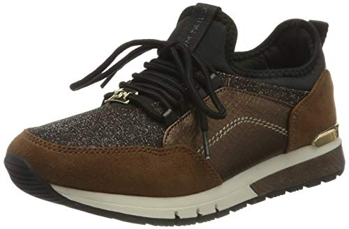 TOM TAILOR Damen 9091107 Sneaker, Brown, 40 EU