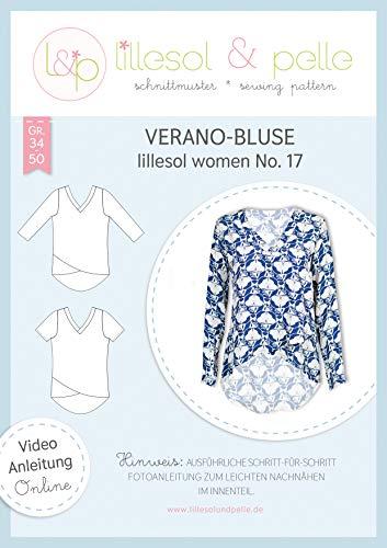 lillesol & pelle Schnittmuster lillesol Women No.17 Bluse Verano in Größe 34-50 zum Nähen mit Foto-Anleitung und Video