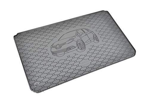 Passgenau Kofferraumwanne geeignet für Renault Captur ab 2013 ideal angepasst schwarz Kofferraummatte + Gurtschoner