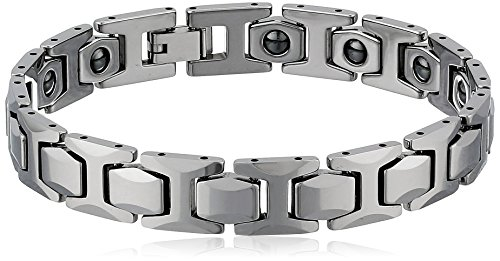 Men's Tungsten High Polished Magnetic Therapy Bracelet, 8.5'