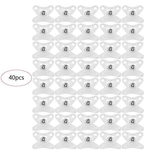 Duokon 40-delige hoekmeubel van nylon-kunststof, hoek van 90 graden, hoekverbindingen, rechthoekige plankhouder, hoekcode-kastaccessoires